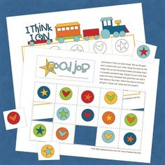 free {printable} train reward chart