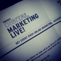 My  #ticket for  #digital #marketing #live emerce  #interactive #event #amsterdam You will find this very usefull