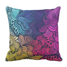 Floral design Pillow #pillow #zazzle #decor #homedecor #fashion #throw #design #sleep #beauty