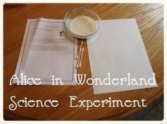 Enchanted Homeschooling Mom: Alice in Wonderland Science Experiment