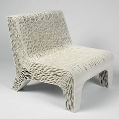 "Lilian van Daal's 3D-printed Biomimicry chair shows off ""a new way to create soft seating   
