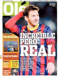 Olé Messi: Increíble, pero real - Madrid-Barcelona.com