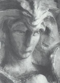Kopf des Luzifer - Sculpture - by Rudolf Steiner