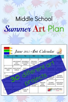Free 30-Day Summer Art Plan  Want to encourage your kids to be more creative this summer? Head over to Education Possible and download a free 30-Day Summer Art Plan.