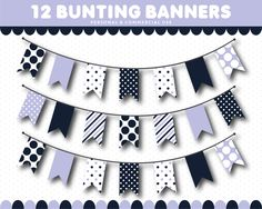 Pink bunting banner clipart in triangle and square flags with stripes and polka dot, Pink Bunting, Bunting Banner, Corporate Flyer, Stickers, Cake Smash, Flyer Template, Clipart, Red And Blue, Dark Blue