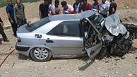 برخورد مرگبار و شاخ به شاخ پراید و زانتیا 5 کشته و 2 زخمی داد   تصاویر