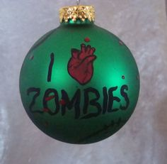 zombie ornaments i love zombie ornament walking by TotallyObsessed, $10.00