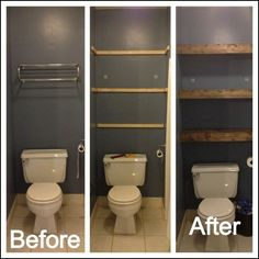 DIY wooden bathroom shelving – transform your space and increase storage! / Rayonnage DIY en bois po… DIY wooden bathroom shelving - transform your space and increase storage! Bathroom Design Decor, Diy Bathroom, Home Remodeling, Bedroom Diy, Wooden Bathroom, Bathrooms Remodel, Bathroom Design, Bathroom Decor, Shelving