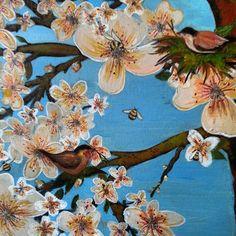 Spring blossom 2 by EnserCreations on Etsy, $200.00. My mommas beautiful artwork on etsy!!