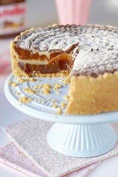 Torta trufada de leite ninho e nutella www.flamboesa.com.br