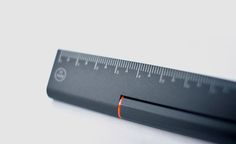 Details we like / Ruler / Black / Red Derail / HMM Rule One is a combination pen and ruler / at coolmaterial