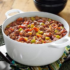 Need country woman chili recipes? Find chili recipes from the Country Woman Magazine and Taste of Home. Get recipes for tons of different delicious chili recipes found in our Country Woman Magazine. All Recipes Chili, Mexican Food Recipes, Soup Recipes, Cooking Recipes, Pasta Recipes, Dinner Recipes, Potluck Recipes, Chili Recipe From Scratch, Chorizo