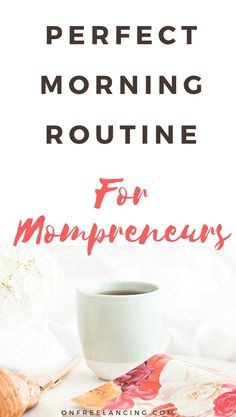 My best tips for mompreneurs. Find out how to have a productive morning while taking care of yourself and your family. Earn More Money, Make Money Blogging, How To Make Money, Business Tips, Online Business, Over It Quotes, Entrepreneur, Productivity Hacks, Increase Productivity