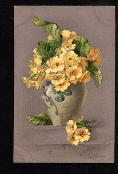 BELLE Yellow Flowers in Vase by C. KLEIN