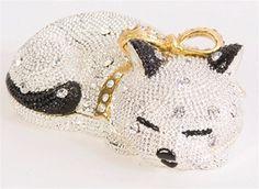 Sleeping cat crystal trinket box