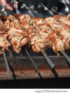 Schaschlik aus Schweinenacken in Mayonnaise Schaschlik w majonese - Шашлык в майонезе - Russische Rezepte