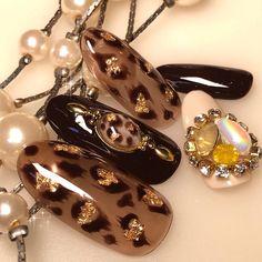 Asian Nail Art, Asian Nails, Zebra Nail Art, Cheetah Nails, Lux Nails, Bronze Nails, Nail Logo, Beige Nails, Classic Nails
