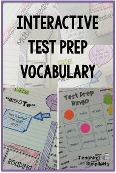 FREE Interactive Test Prep Vocabulary bingo game to go with the Interactive Notebook for Test Prep Vocabulary!