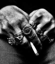 The Classy Issue Off Your Rocker, Billy Kidd, Biker Rings, Its A Mans World, Up In Smoke, Stuff And Thangs, Black And White Photography, Fashion Photo, Fashion Images