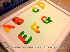 De tout et de rien: Tactile Letters Glue and Salt