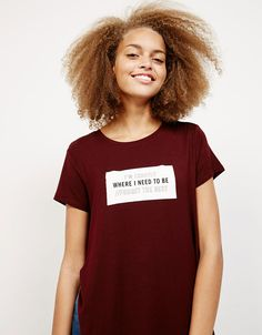 8c5acfce301e Discover the lastest trends in T- Shirts with Bershka. Log in now and find  213 T- Shirts and new products every week