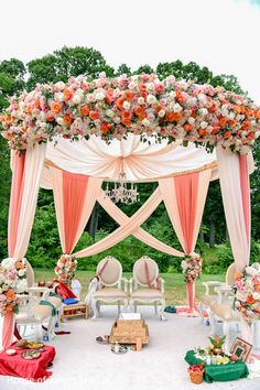 Gorgeous wedding ceremony stage http://www.maharaniweddings.com/gallery/photo/85325 @ElegantAffairs1