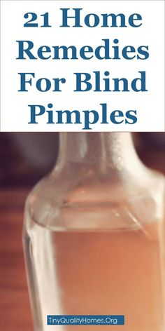 how to bring a blind pimple to a head