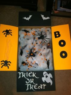 ~ ♥ Care Package Idea - Halloween package - Such a cute idea when baby brother is in College! ♥ ~