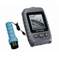 FSTN LCD 2 Levels Portable Handheld Sonar Fish Finder Free Scan Transducer Used On Ice Best Fish Finder