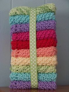 Knitted washcloth tutorial
