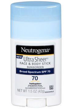 Neutrogena Ultra Sheet Face & Body Stick Suncreen SPF 70 $11.00