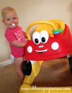 The Little Tikes Cozy Coupe Activity Walker - approved by my 11-month old!