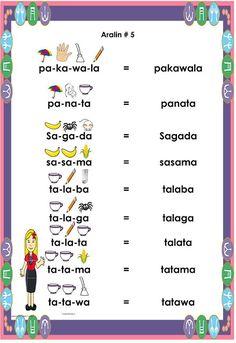 Gabay sa Pagbabasa Para sa Kindergarten at Unang Baitang ARALIN 5 Grade 1 Reading Worksheets, Kindergarten Reading Activities, Phonics Reading, Printable Preschool Worksheets, Free Kindergarten Worksheets, Alphabet Worksheets, Printable Coloring, Sagada, Reading Practice