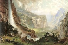 The Domes of the Yosemite: 1870 by Albert Bierstadt (Amon Carter Museum of American Art, Fort Worth, TX) - Hudson River School