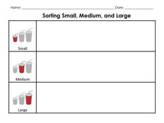 Sorting Like Objects-- Small, Medium, and Large