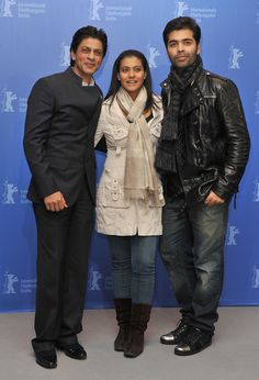(L-R) Actor Shah Rukh Khan, actress Kajol and director Karan Johar attend the 'My Name Is Khan' Photocall during day two of the 60th Berlin International Film Festival at the Grand Hyatt Hotel on February 12, 2010 in Berlin, Germany. Source: Pascal Le Segretain/Getty Images Europe.