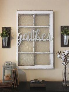Metal Gather Sign Gallery Wall Decor Gather Home Decor Farmhouse Wall Decor Gather Signs Galvanized Metal Home Accents Curly girl goods ideas Diy Wand, Rustic Entryway, Entryway Decor, Rustic Decor, Foyer, Western Decor, Country Decor, Vintage Decor, Chimney Decor