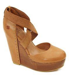 Lucky Brand Honey Leather Wedges Love #shoes, #fashion, #pinsland, https://apps.facebook.com/yangutu