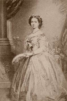 Vicky as a young woman