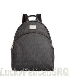 Michael Kors Mk Signature Small Backpack Pvc Black Nwt Michaelkors Backpackstyle Purses