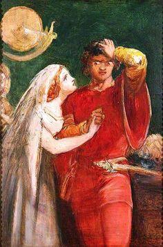 Othello and Desdemona, c. 1841-1843. Sir John Everett Millais. | The Athenaeum