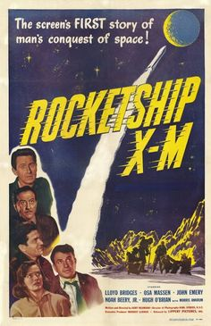 Rocketship X-M (1950) • An astronaut crew of 4 men and one woman on their way to the Moon, are unexpectedly propelled by gravitational forces and end up on Mars instead.