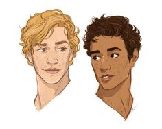 """Henryk x Aleksander // illustratedkate: """"I've been feeling a bit BLEH about drawing lately, so I took a break today and drew some Song of Achilles fan art. This is Thetis, Briseis, Achilles, and Patroclus as I imagined them. Vector Character, Character Design Cartoon, Character Drawing, Character Design Inspiration, Achilles And Patroclus, Book Hangover, Fantasy Character, Illustration, Book Fandoms"""