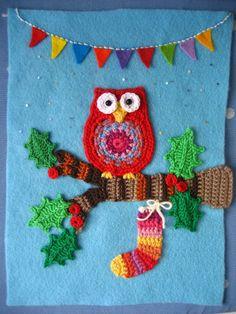 tessituras: Quadrinhos de croché e bordado.