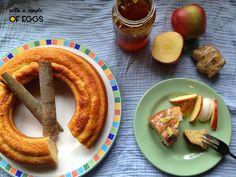 Bicocho de canela y manzana  Cinnamon and apple cake   www.withacoupleofeggs.blogspot.com