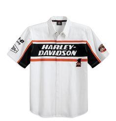 harley-davidson-men-s-s-s-woven-garage-shirt-99076-12vm | men's
