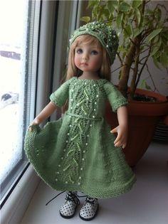 Вязаные комплекты для кукол Diana Effner и Paola Reina / Одежда для кукол / Шопик. Продать купить куклу / Бэйбики. Куклы фото. Одежда для кукол