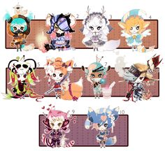 [CLOSED] ADOPT 27 - Multiple adopt set 2 by Piffi-adoptables on deviantART