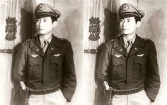 Vintage Photo Restoration – My Grandfather the Fighter Pilot Pilot Uniform, Photo Restoration, Fighter Pilot, Vintage Photos, Air Force, Punk, Portrait, Headshot Photography, Portrait Paintings