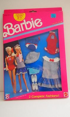 Vintage Barbie Yacht Club Fashion/Barbie Red White by ABarbieGal